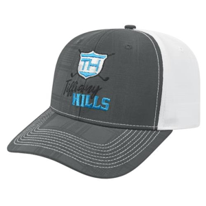 Modified Flat Bill Two-Tone Polyester Cap