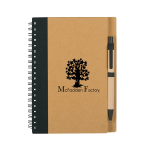 Eco-Inspired Spiral Notebook & Pen